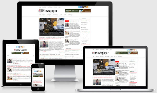 iNewspaper Blogger template