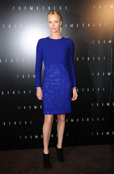 Lily S Pick Charlize Theron Blue Dress