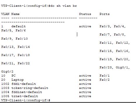vlan database
