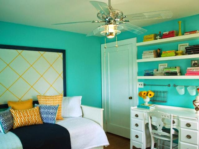 interior paint colors blue green