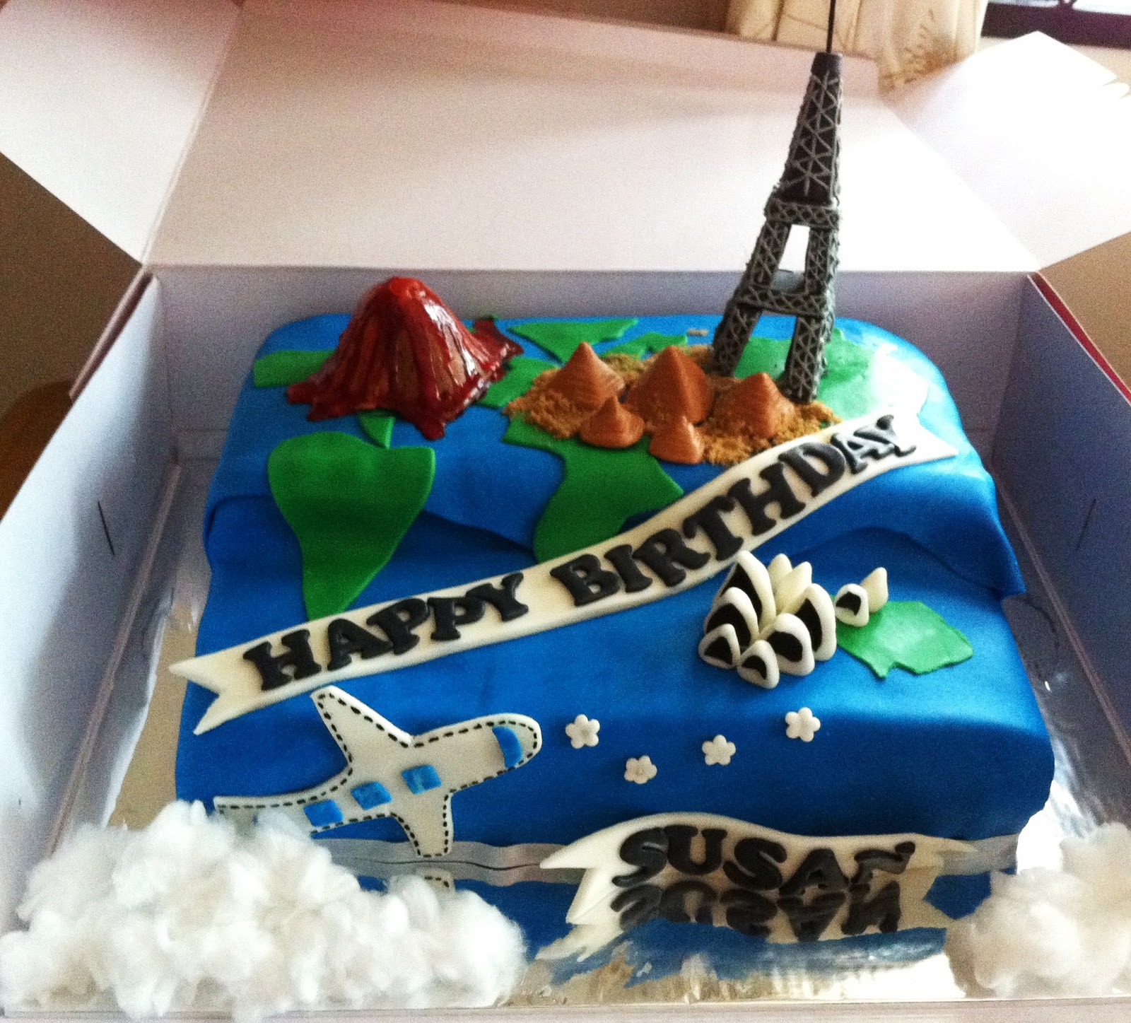 Travel Cake With Famous Landmarks Sherbakes