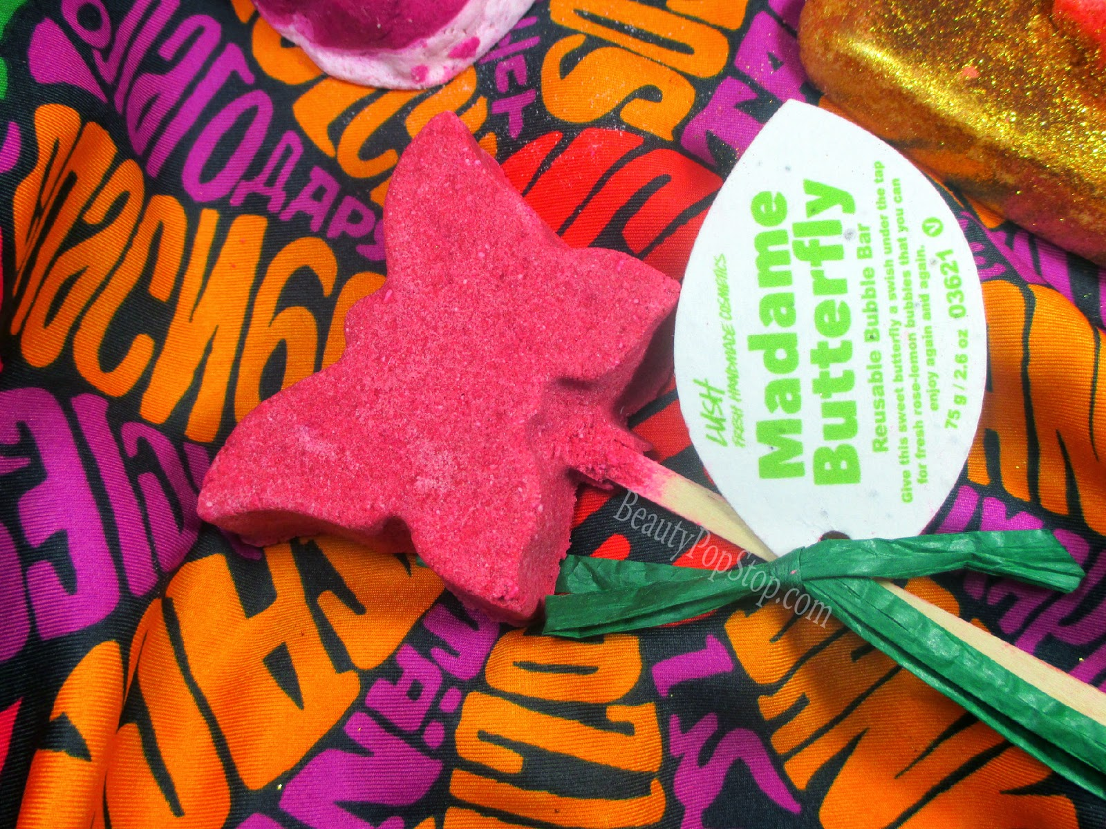 lush madame butterfly bubble bar review