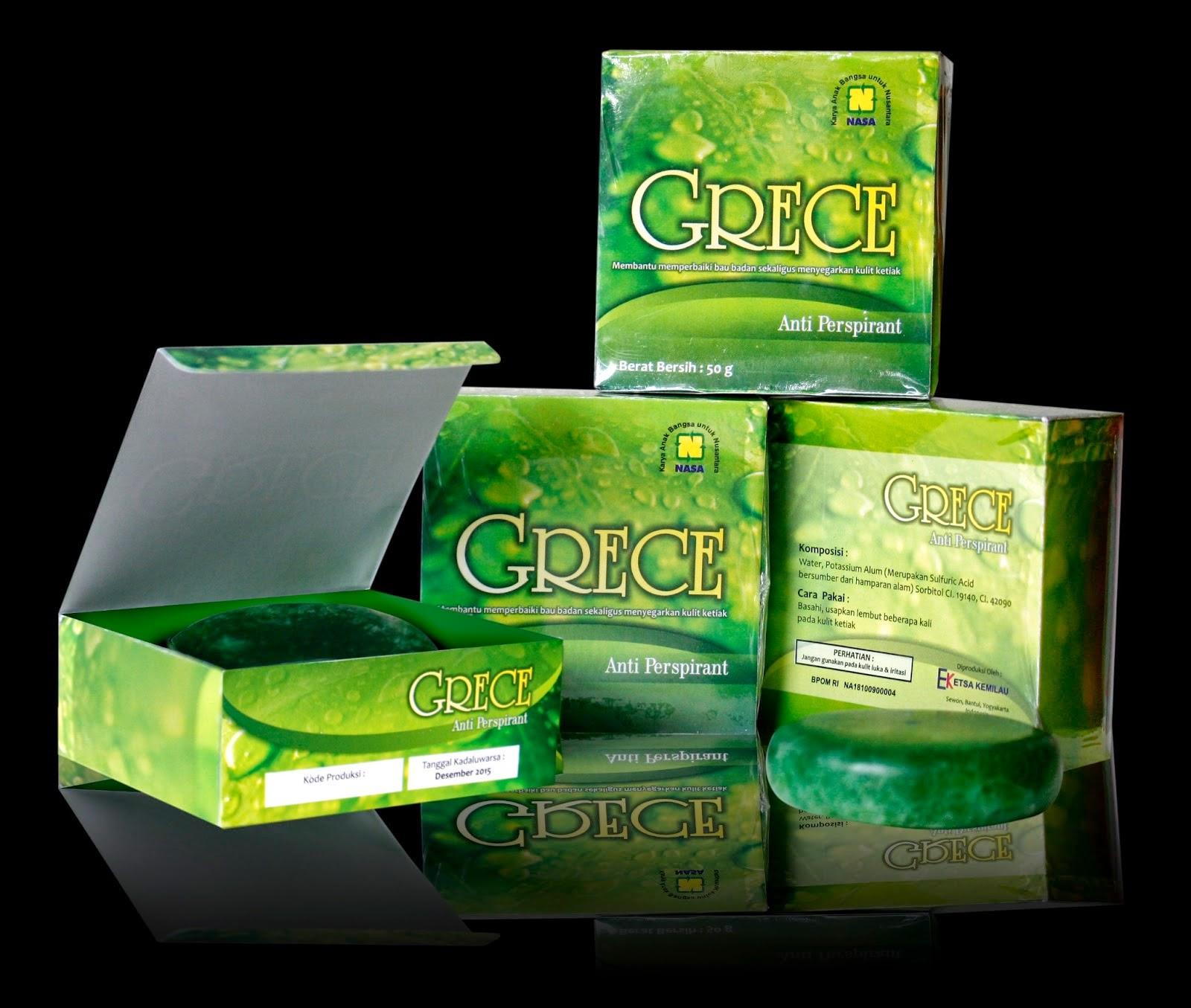 Grece Body Crystal, Anti Bau Badan Alami