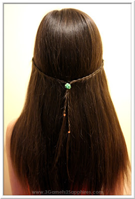 Easy #StraightAStyle hairstyle for back-to-school - Skinny braids