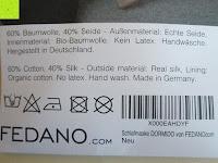 Reinigung: Schlafmaske DORMIDO von Fedano - Premiumqualität aus BIO-Baumwolle und Echter SEIDE - Schwarz - Hochwertige Schlafbrille & Augenmaske für Frau und Mann - Für die Reise und Zuhause Geeignet - HERGESTELLT in MÜNSTER, NRW