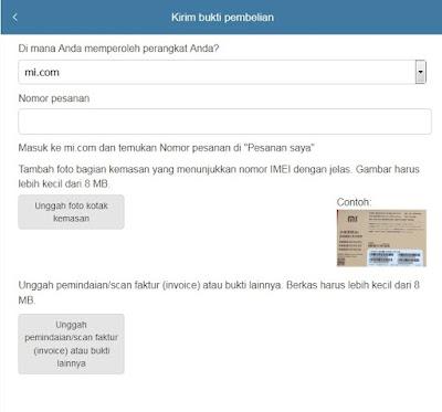 upload berkas bukti pendukung xiaomi