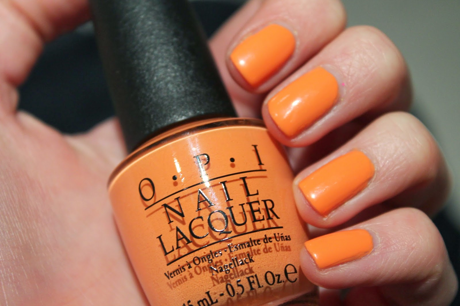 OPI Brazil Collection - Where did Suzi's Man-Go Nail swatch