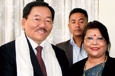 Pawan Chamling at his home in Gangtok