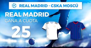 Paston Megacuota Real Madrid vs CSKA 12 diciembre