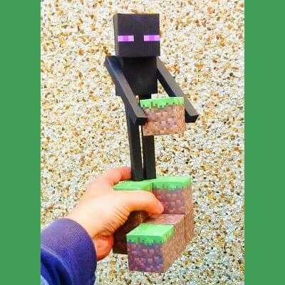 Minecraft Enderman Papercraft