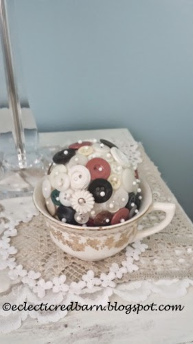 Eclectic Red Barn: Button Ball Tea Cup