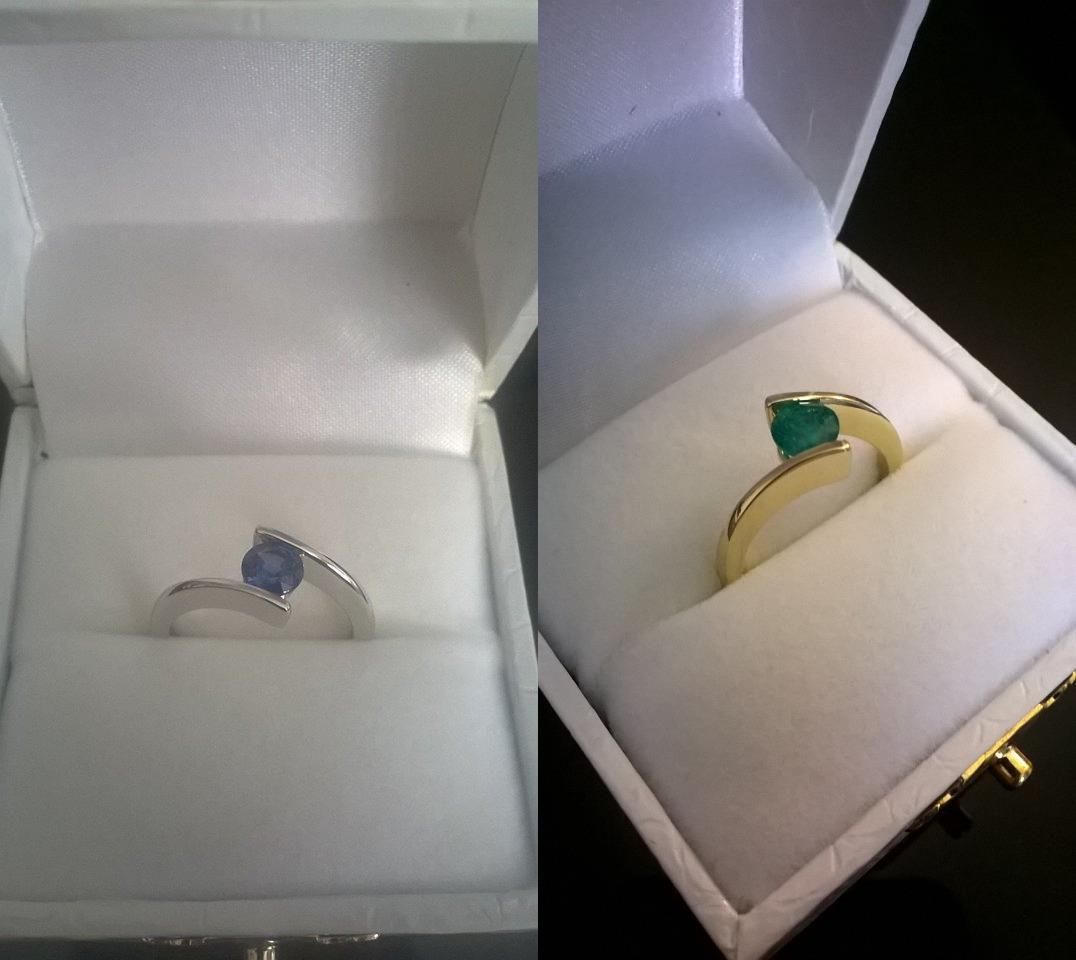 3) Μονόπετρα με ημιπολύτιμους λίθους ή ζιρκόν  Άλλη μια εναλλακτική λύση  για ανθρώπους που αντιμετωπίζουν το μονόπετρο δαχτυλίδι σαν ένα ακομή  κόσμημα 52f8feb7d9e