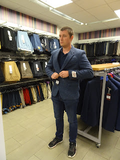 man being fitted in glasgow slaters