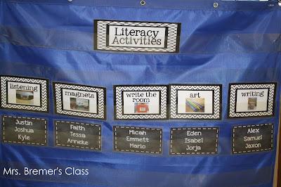 Literacy Activities rotation chart