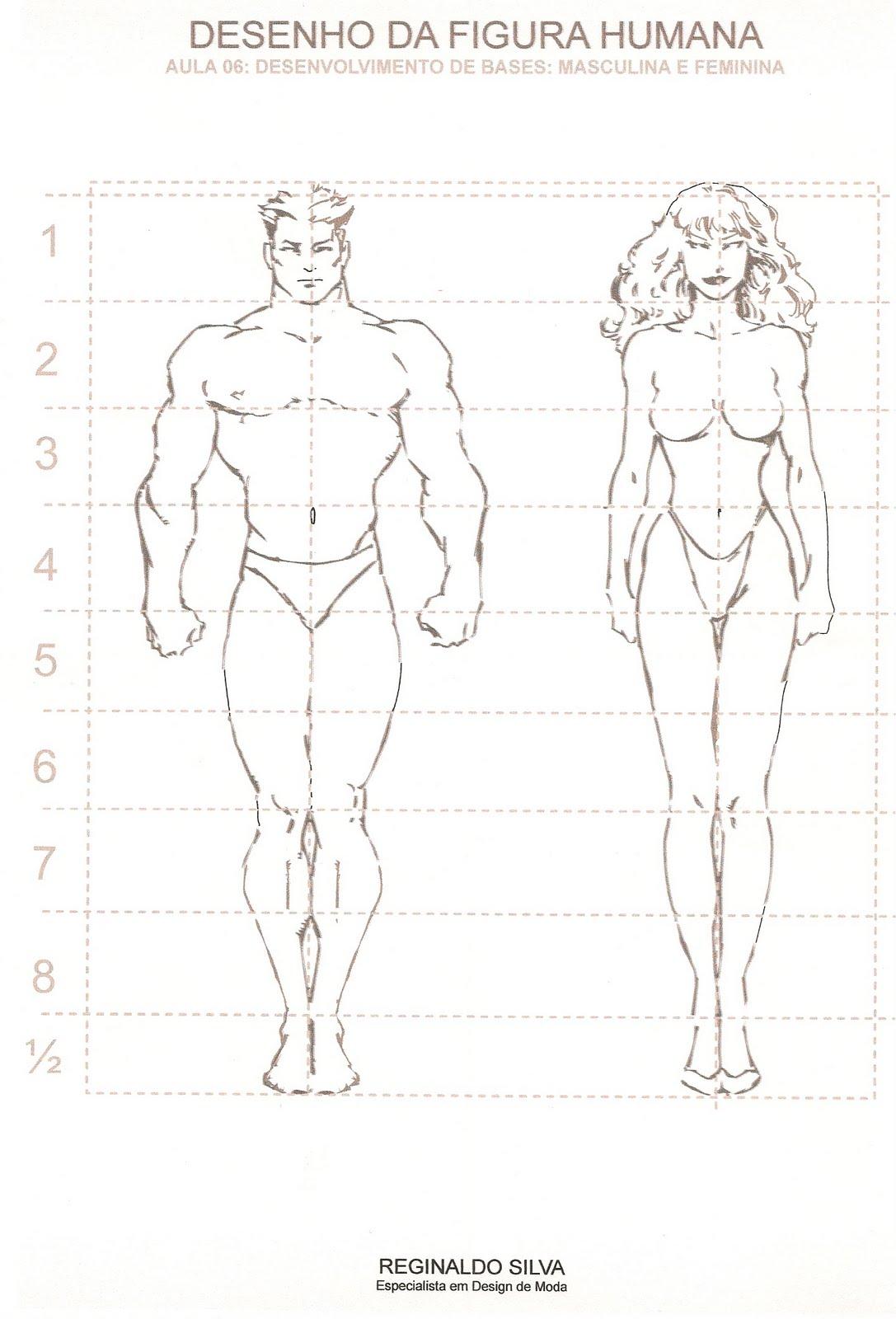 Blog Do Regis Desenhos Estruturas Do Corpo Feminino E Masculino
