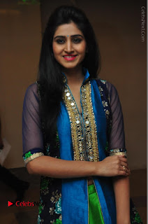 Actress Model Shamili Sounderajan Pos in Desginer Long Dress at Khwaaish Designer Exhibition Curtain Raiser  0015.JPG