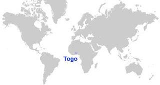Gambar Peta letak Togo