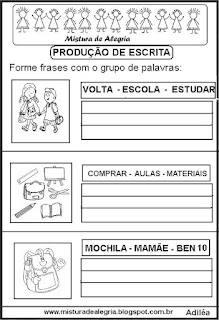Formar frases volta às aulas