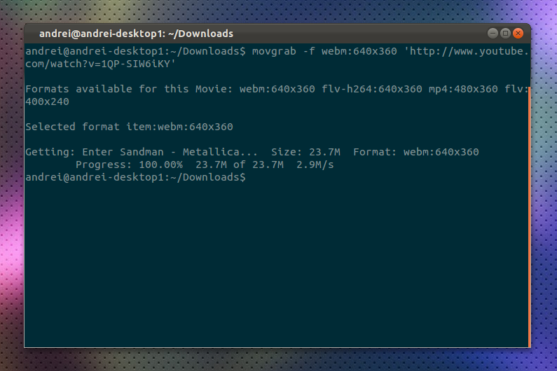 Movgrab: Command Line Video Downloader ~ Web Upd8: Ubuntu