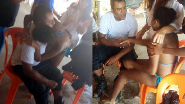 Polícial mergulha fardado no Rio São Francisco para salvar jovem que se afogava