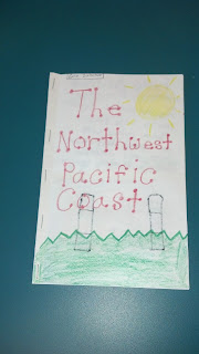 Research project on native american regions in a booklet form.