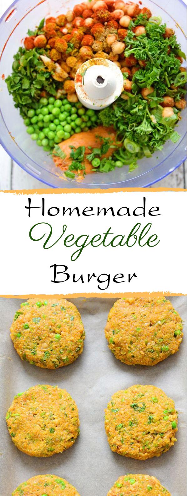 Homemade Veggie Burger #burger #vegetarian