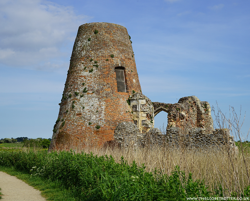 Ruins of St Benet's Abbey in Norfolk Broads