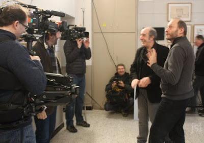 """Tournage France3 """"Pourquoi chercher plus loin"""", Eric Auclair, architecte et le Président de l'association du Musée (collection musée)"""