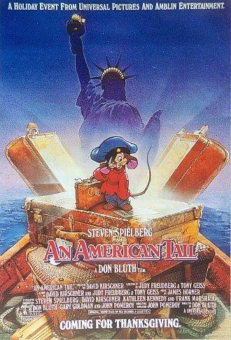 "Original poster ""An American Tail"" 1986 animatedfilmreviews.filminspector.com"