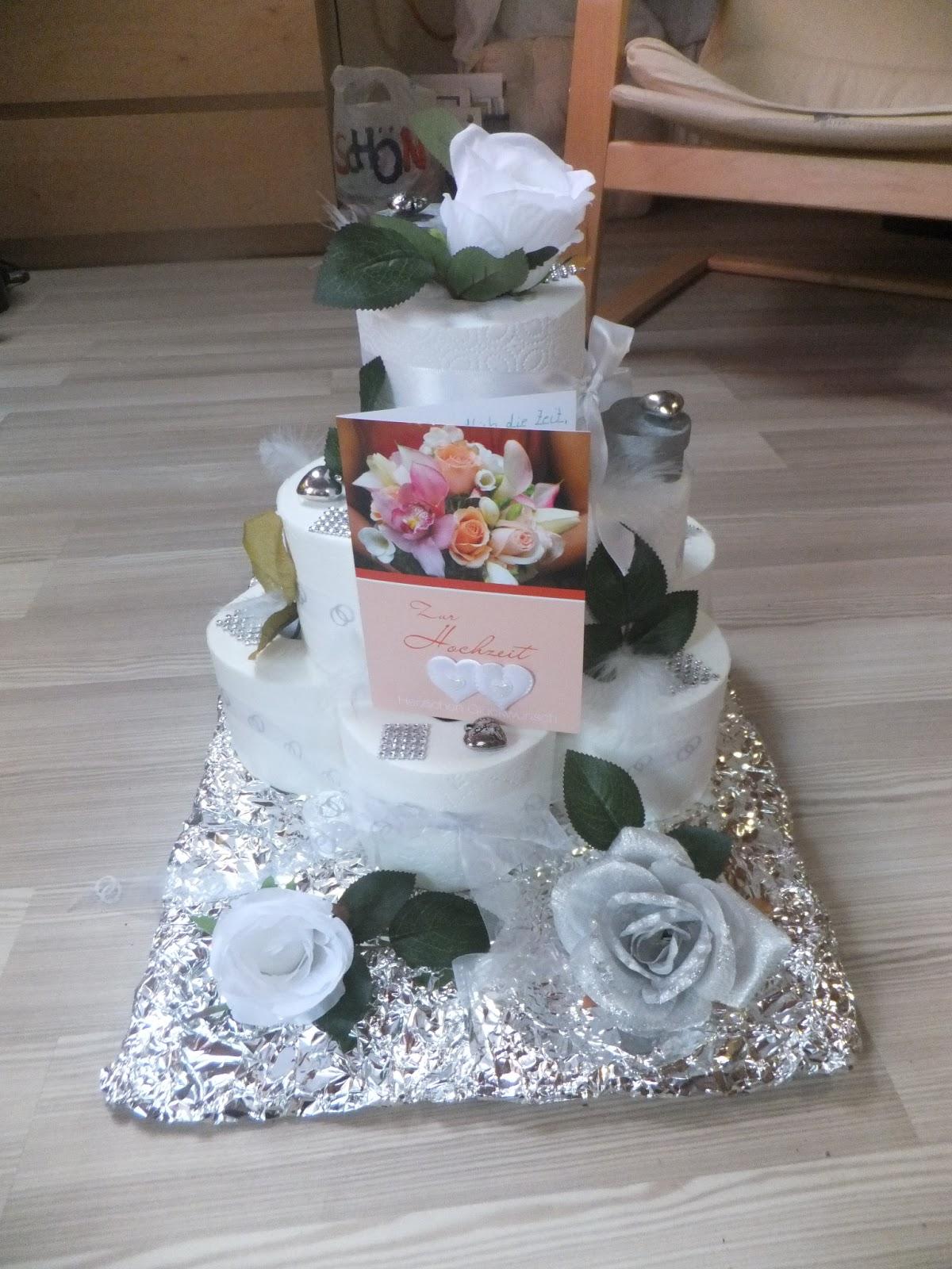 Toilettenpapier Torte Hochzeit Mirages Bastelstube Hochzeitstorte Aus