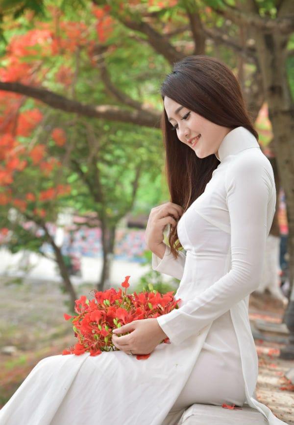 ao-dai-hoa-phuong, Áo dài hoa phượng