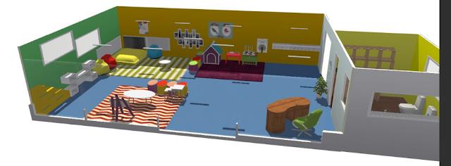 C mo crear planos y dise o de interiores app objetivo for Plano aula educacion infantil