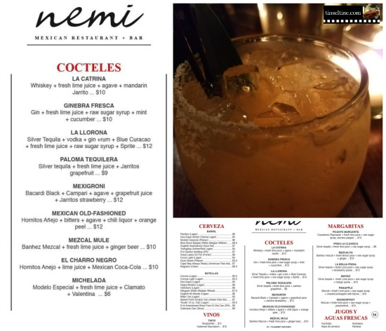 NEMI Mexican Bar Menu