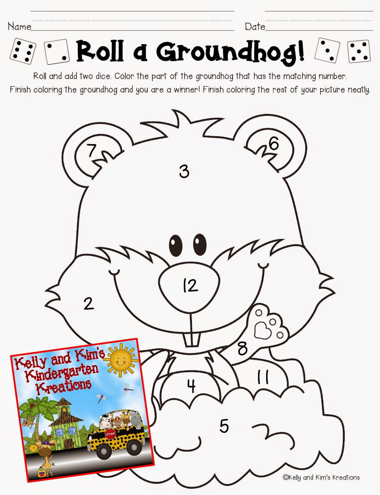Groundhog Day Prediction Worksheet For Kindergarten