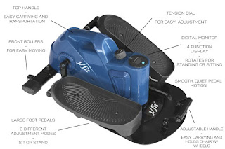 J/fit Under Desk or Stand Up Mini Elliptical, image, review features & specifications