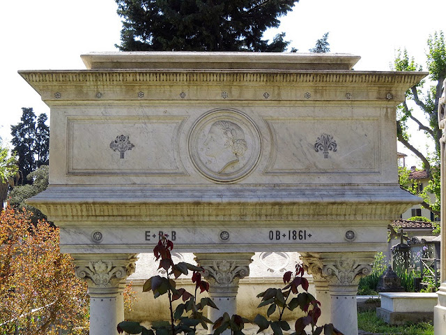 Elizabeth Barrett Browning's tomb, English Cemetery, Piazzale Donatello, Florence
