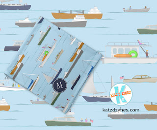 A day on the river personalized boating themed bandana by katzdzynes
