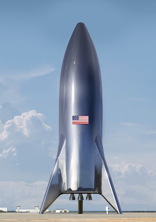 SpaceX stainless steel Starship test vehicle (hopper)