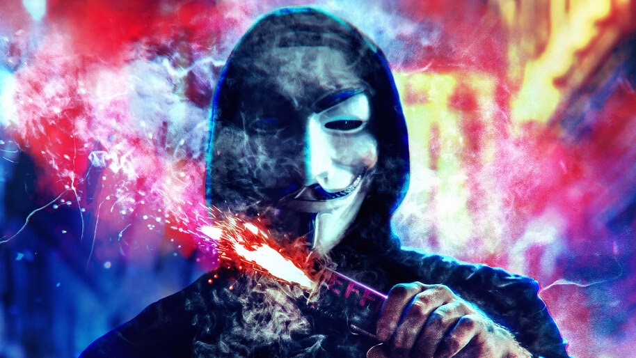 Anonymous, Mask, Digital Art, 4K, #4.1956