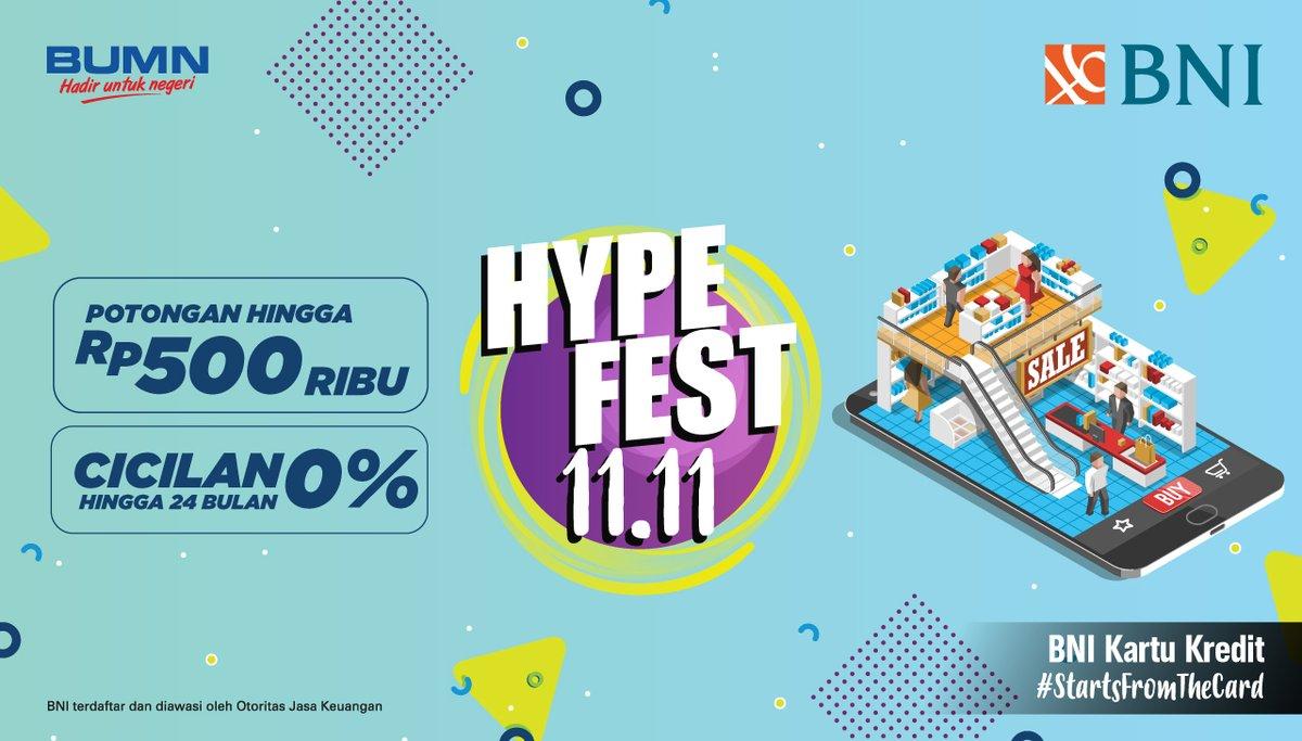 Bank BNI - Promo Lengkap HypeFest 11.11 2018