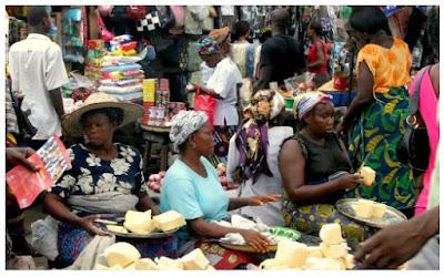 Pictures of market in Africa Nigeria Lagos Ibadan image