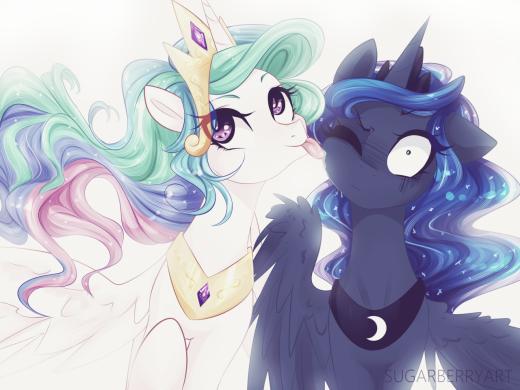 Those wacky Princesses of Equestria...