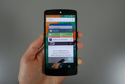 An application tab that runs on an Android smartphone