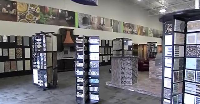 Ceramic tile warehouse working