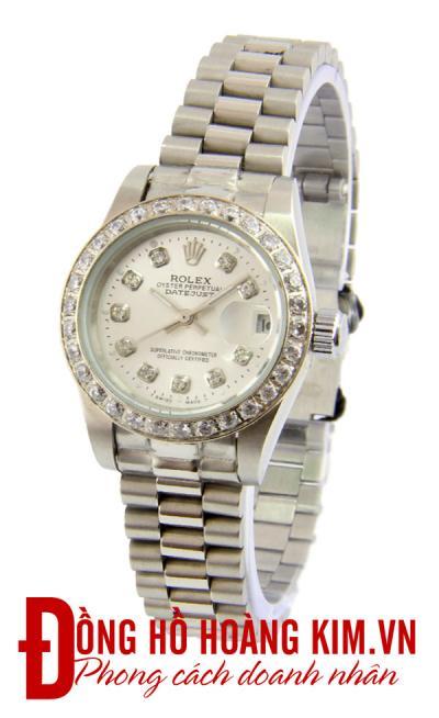 Đồng hồ nữ rolex dây sắt chính hãng