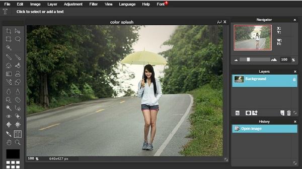 Membuat Color Splash Dengan Editor Online