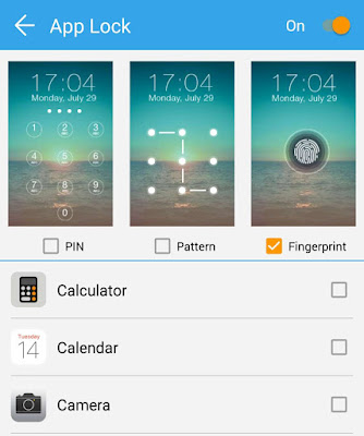 Set app lock