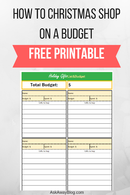How to Christmas Shop on a Budget Free Printable Budget