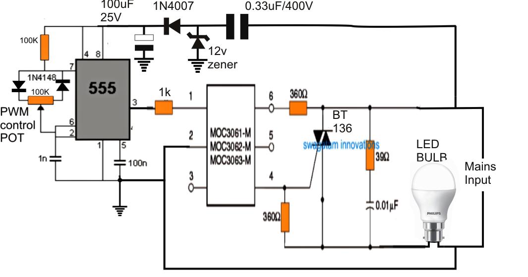 led bulb circuits