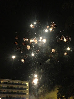FIREWORKS AT THE HOTEL IN PINEDA DE MAR